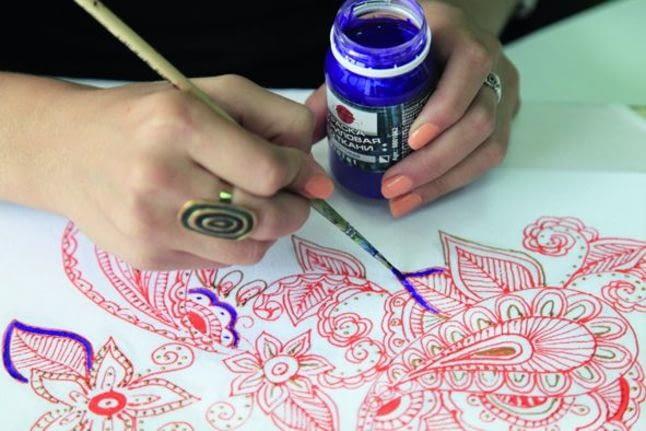Какую ткань выбрать для росписи краской?