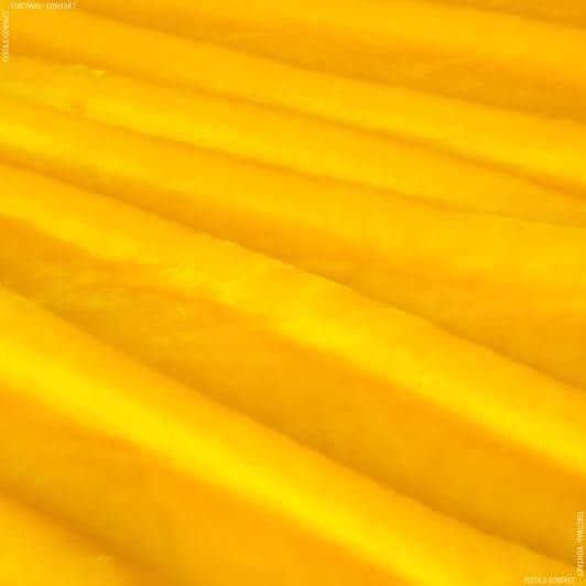 Ткани для верхней одежды - Мех коротковорсовый желтый