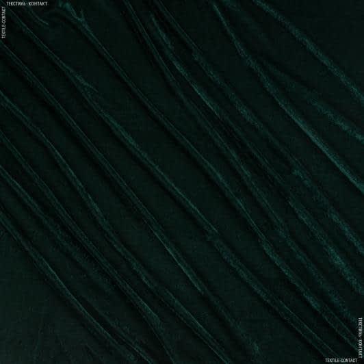 Ткани для платьев - Велюр стрейч темно-зеленый