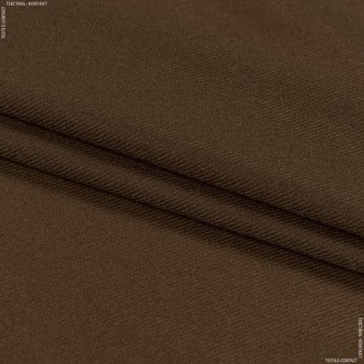 Ткани для мягких игрушек - Трикотаж-липучка коричневый