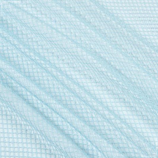 Ткани для драпировки стен и потолков - Тюль сетка элиза/  голубой
