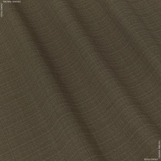 Ткани портьерные ткани - Рогожка зели  коричневый