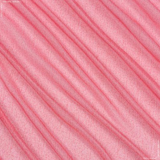 Ткани гардинные ткани - Тюль вуаль принт мрамор розовый