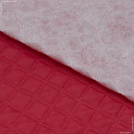 Ткани подкладочная ткань - Подкладка 190т с синтепоном 100г/м термопай 2*2 красный
