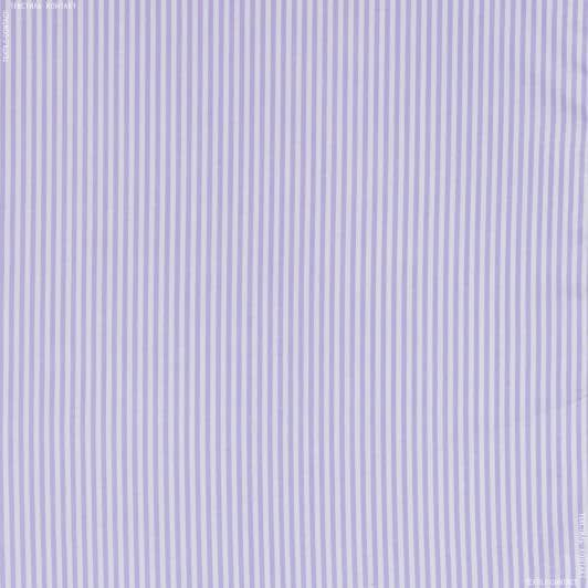 Тканини для хусток та бандан - Сорочкова getzner смужка біло/бузковий