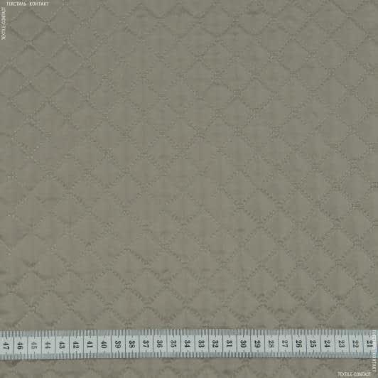 Ткани подкладочная ткань - Подкладка с синтепоном термопай 2*2 серо-бежевый