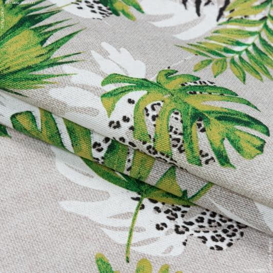 Тканини портьєрні тканини - Декоративна тканина селва дрібний лист/selva зелений