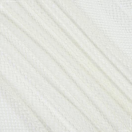 Ткани для драпировки стен и потолков - Тюль с утяжелителем сетка  элиза/ крем