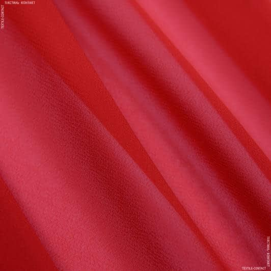 Ткани для платков и бандан - Шифон мульти т/красн
