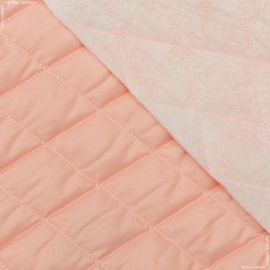 Тканини для верхнього одягу - Плащова фортуна стьобана з синтепоном персиковий