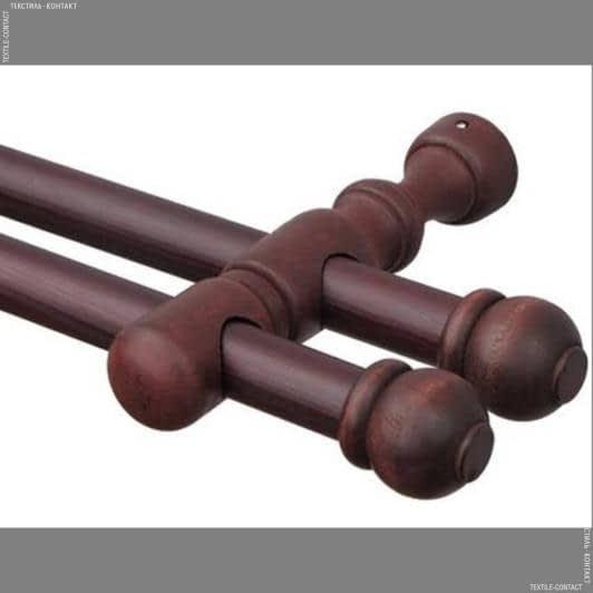 Тканини карнизи - Карниз дерев'яний рома II махагон 28/28мм/125см