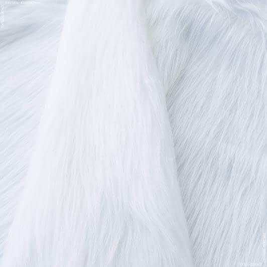 Ткани для верхней одежды - Мех длинноворсовый белый