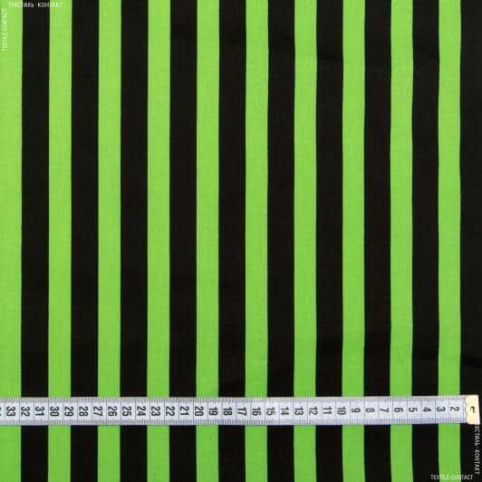 Ткани для брюк - Коттон стрейч полоска черно-зеленый