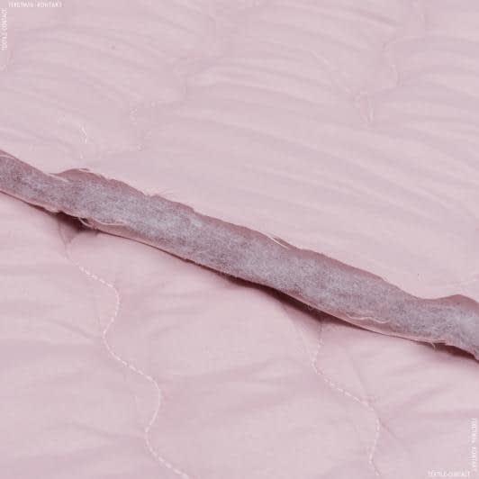 Тканини для покривал - Декоративна стьобана тканина макі / рожевий