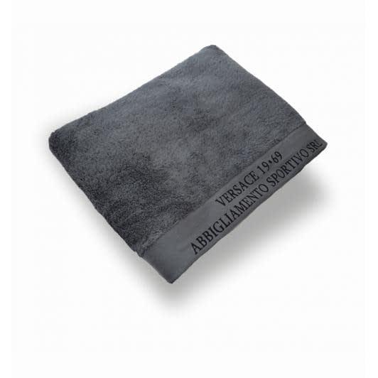 Ткани махровые полотенца - ПОЛОТЕНЦЕ МАХРОВОЕ ВЕРСАЧЕ  70х130 АНТРАЦИТ