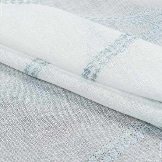 Ткани гардинные ткани - Тюль   с утяжелителем марселла вышивка/marsella  /  серо-голубой