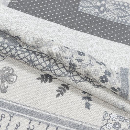 Ткани портьерные ткани - Декоративная ткань печворк вантед   серый