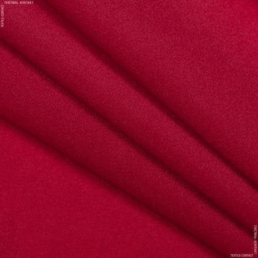 Ткани для кукол - Велюр-липучка красно-вишневый