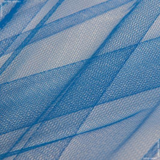 Тканини для блузок - Фатин жорсткий волошковий