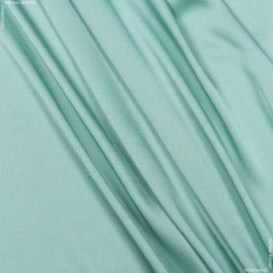 Ткани для платков и бандан - Шелк искусственный стрейч темно-мятный