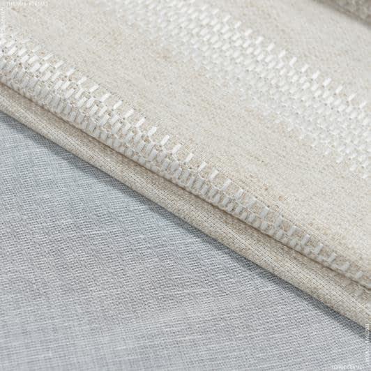 Тканини для тюлі - Тюль з обважнювачем біона купон вишивка/ baiona /беж,молочний