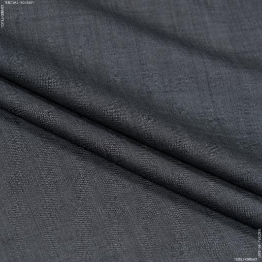 Ткани для брюк - Костюмная беккер меланж серый
