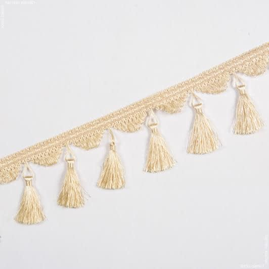 Ткани фурнитура для декора - Бахрома бриджит кисточка сливочный