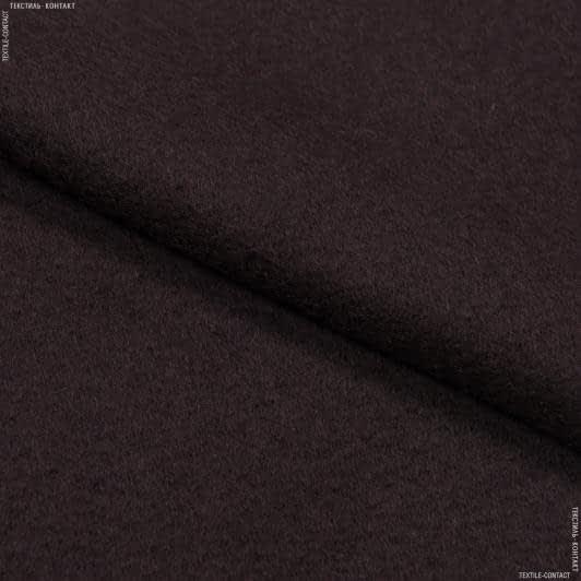 Тканини для верхнього одягу - Пальтове букле дольче темно-коричневий