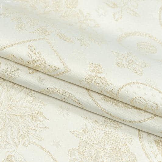 Тканини для декоративних подушок - Декоративна новорічна тканина люрекс картинки золото