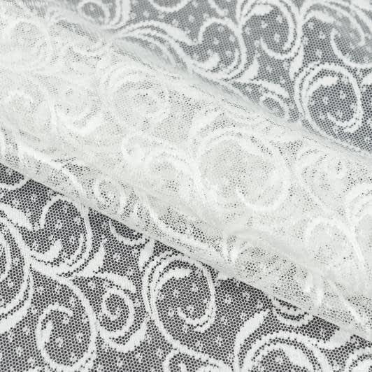 Тканини гардинні тканини - Гардинне полотно гіпюр дора молочний