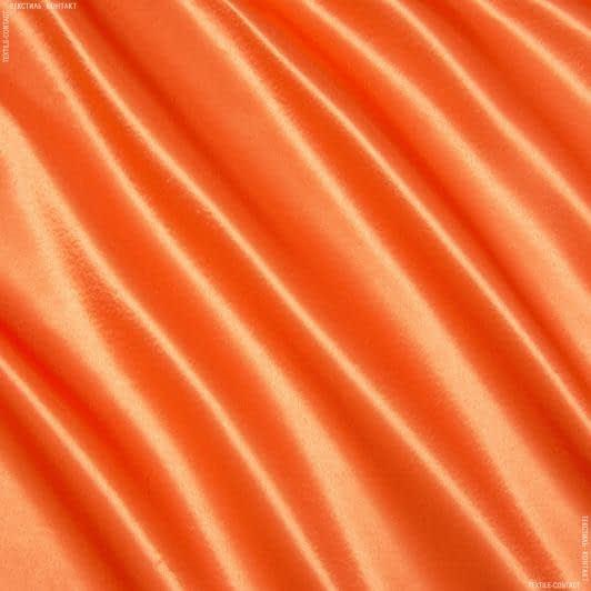 Тканини для суконь - Креп-сатин помаранчевий