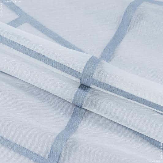 Ткани для тюли - Тюль  лайт-оранза с утяжелителем   ДИЛАРА/ сине-серый