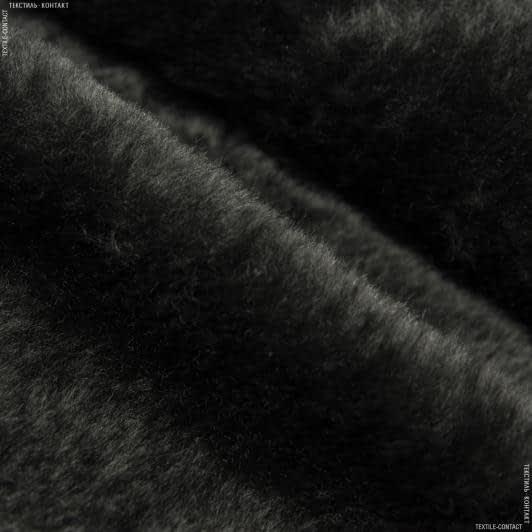 Ткани для детской одежды - Мех подкладочный полированный черный