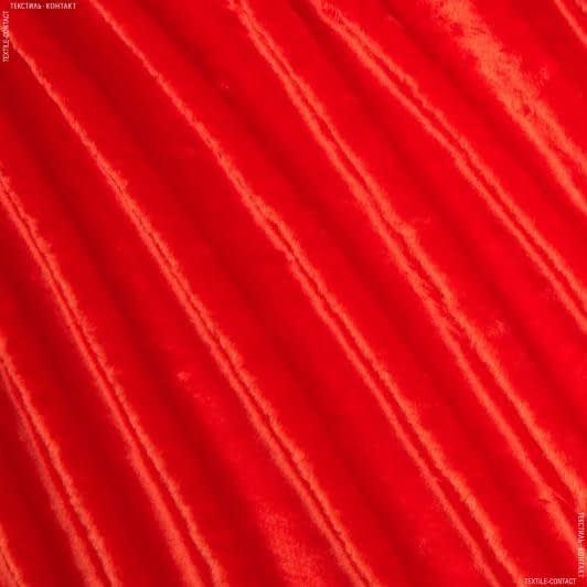 Ткани для верхней одежды - Мех коротковорсовый красный