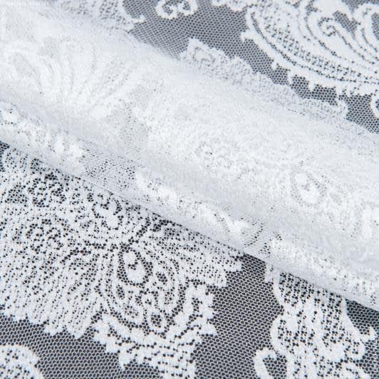 Тканини гардинні тканини - Гардинне полотно гіпюр долорес білий