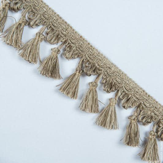 Ткани фурнитура для декора - Бахрома солар кисточка т.беж