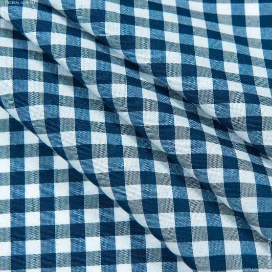 Тканини для банкетних і фуршетніх спідниць - Скат пепіта клітинка синій