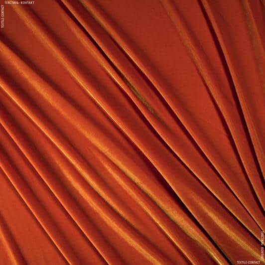 Ткани для верхней одежды - Бархат  стрейч ярко-оранжевый