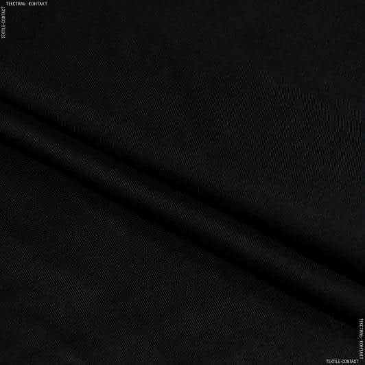 Ткани для костюмов - Плательный атлас платон черный