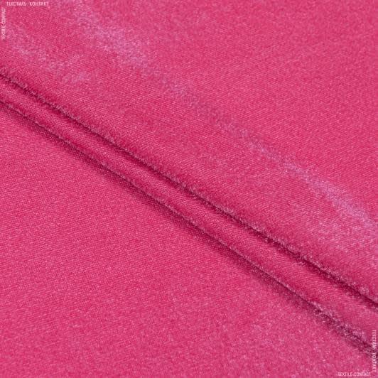 Тканини для суконь - Велюр стрейч коралово-рожевий
