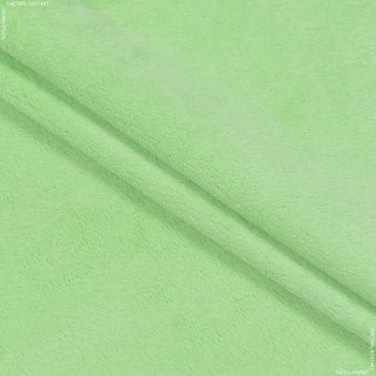 Ткани для мягких игрушек - Плюш (вельбо) салатовый