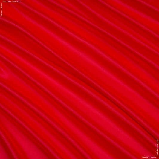 Ткани для белья - Атлас-шелк  стрейч ярко-коралловый