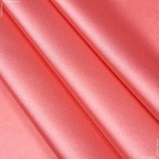 Ткани для белья - Атлас шелк стрейч темно-розовый