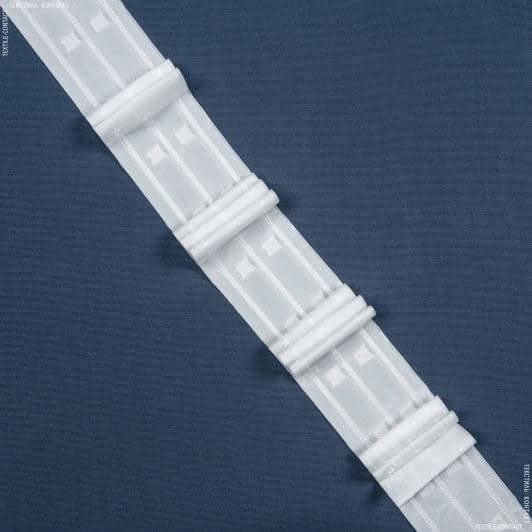 Ткани фурнитура для дома - ТЕСЬМА ШТОРНАЯ КС-1:2.5 65мм/100м матовая Три складки