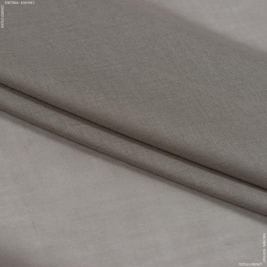 Тканини для драпірування стін і стель - Тюль  батист  люсент/lucent сірий, беж