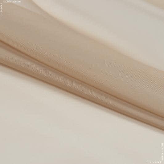 Тканини для драпірування стін і стель - Тюль вуаль т.беж