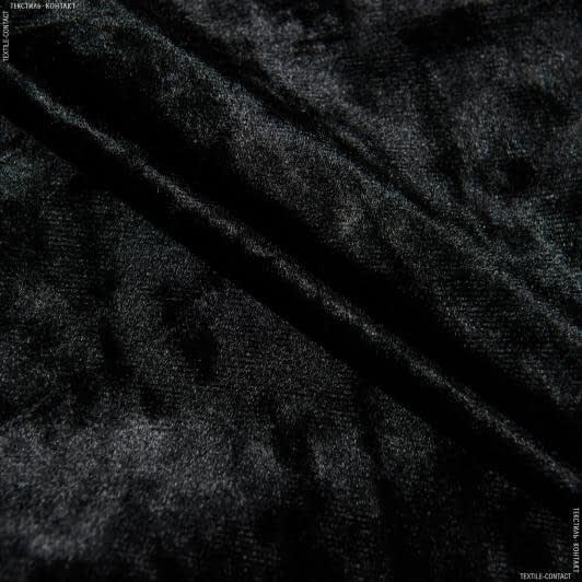 Ткани для костюмов - Бархат стрейч  кристалл черный