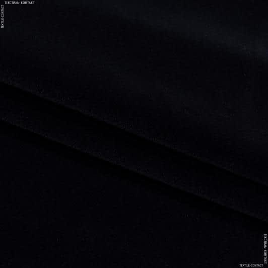 Тканини horeca - Велюр з вогнетривким просоченням метро / metro чорний  сток