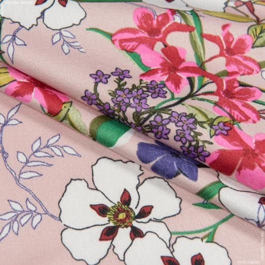 Ткани для платьев - Плательный креп принт