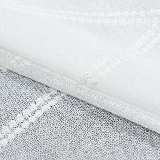 Тканини для тюлі - Тюль з обважнювачем марсела вишивка/marsella / молочний